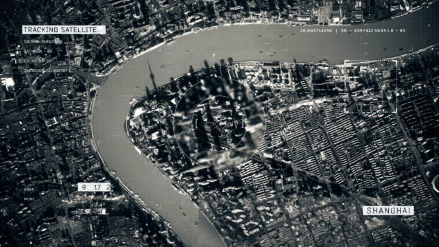 satellite image of shanghai - military stock videos & royalty-free footage