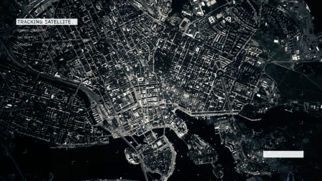stockvideo's en b-roll-footage met satellietbeeld van stockholm - animation moving image