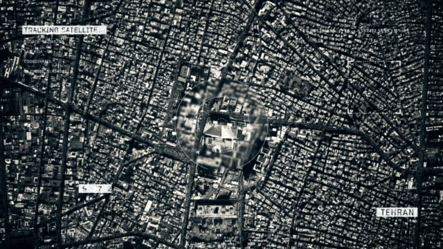 satellite image of tehran - teheran video stock e b–roll
