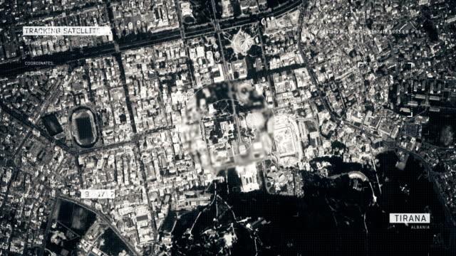 satellite image of tirana - tirana stock videos & royalty-free footage