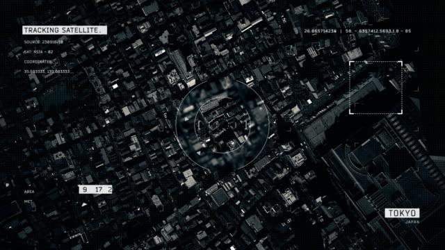 vídeos y material grabado en eventos de stock de imagen de satélite de tokio - interfaz gráfica de usuario