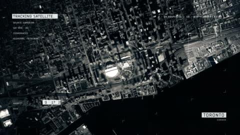 satellite image of toronto - zoom in stock videos & royalty-free footage