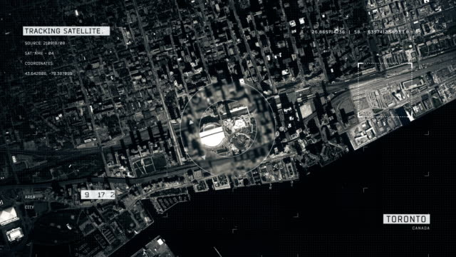 satellite image of toronto - moving towards stock videos & royalty-free footage