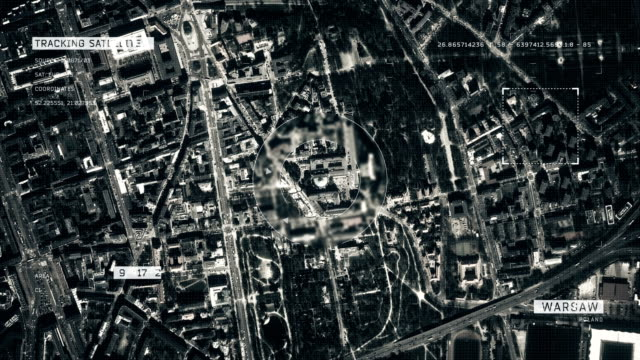 satellite image of warsaw - warsaw stock videos & royalty-free footage