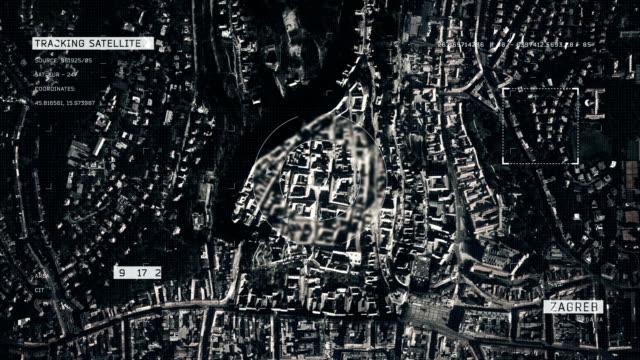 satellite image of zagreb - zagreb stock videos & royalty-free footage