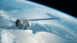 Satellite in Space Global Communications over Earth