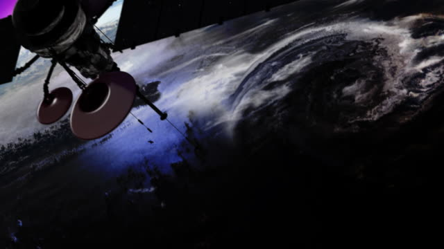satellite is orbiting the earth - astronomical telescope stock videos & royalty-free footage