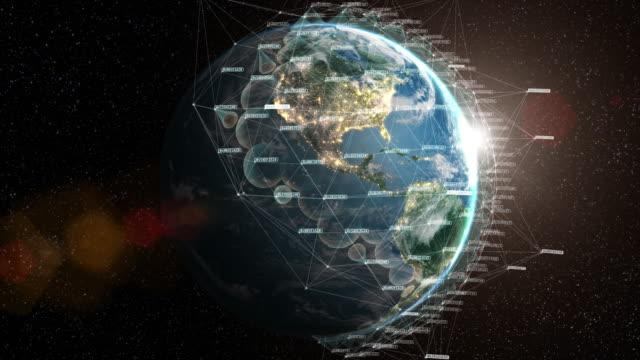 satellite network loop 4k - satellite view stock videos & royalty-free footage