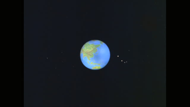 ws zi satellite view of earth with north america prominent / united states - pianeta video stock e b–roll