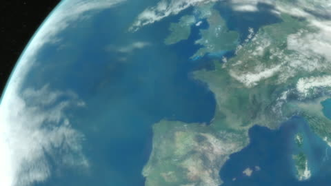 vídeos y material grabado en eventos de stock de a satellite view of earth zooms into an aerial over paris. - europa continente
