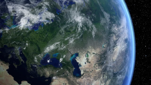 Vista satellitare dell'Europa