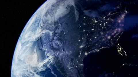 vídeos y material grabado en eventos de stock de vista satelital del planeta tierra. lapso de tiempo de bucle. - europa continente