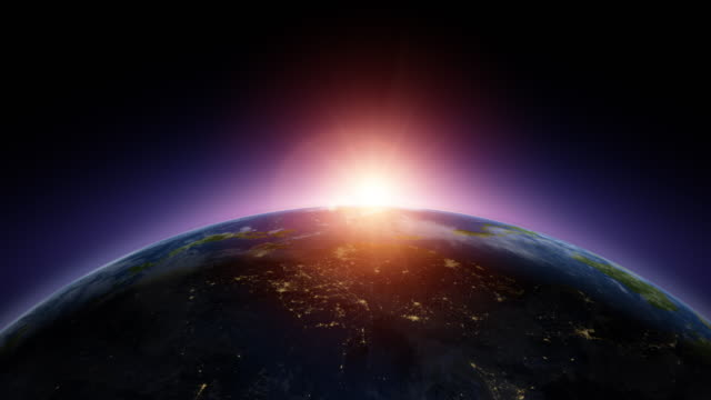 satellite view of sunrise in asia - global stock videos & royalty-free footage