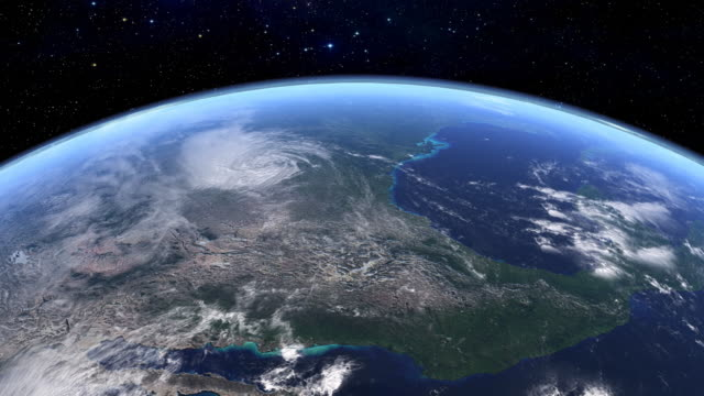 satellite view of usa in hd - florida usa stock videos and b-roll footage