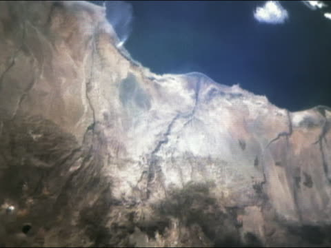 satellite view over pacific coastline of ecuador and peru - 1997 stock videos & royalty-free footage