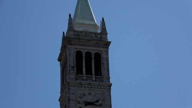sather tower - turmuhr stock-videos und b-roll-filmmaterial