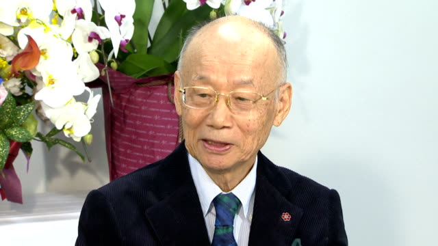 satoshi omura 80 years old who is a professor emeritus at kitasato university and who was recently announced as one of this year's winners of the... - physiologie stock-videos und b-roll-filmmaterial