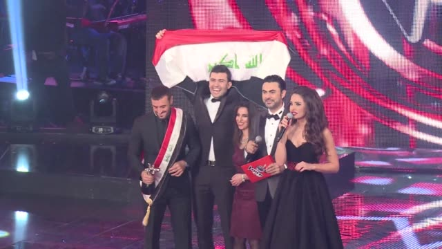sattar saad from iraq wins the arabic version of the reality tv show the voice which featured 100 participants from across the arab world clean iraqi... - television show stock videos & royalty-free footage