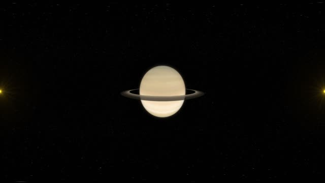 Saturn and Space - Virtual Reality 360 Degrees View