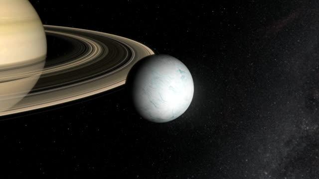 vídeos y material grabado en eventos de stock de saturn's moon enceladus - sistema solar