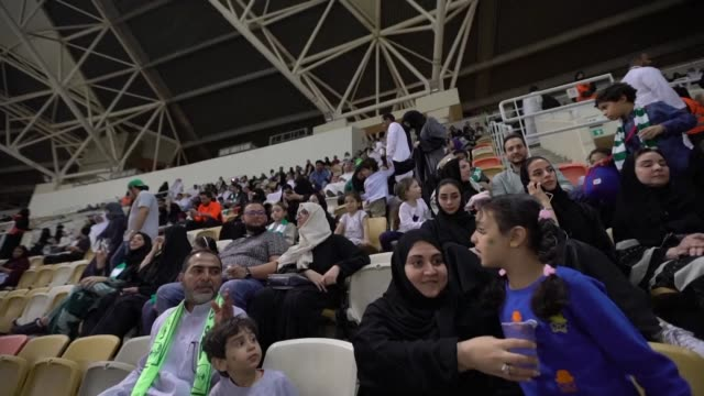 Saudi Arabia allowed women to enter a football stadium for the first time to watch a match Friday as the ultra conservative kingdom eases strict...