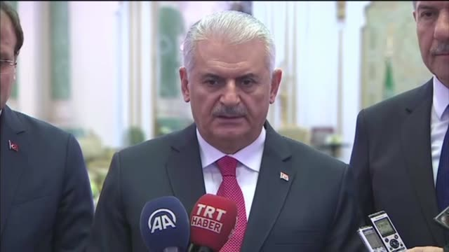 saudi arabia and turkey are key countries for lasting peace and stability in the region, turkish prime minister binali yildirim said wednesday.... - primo ministro turco video stock e b–roll