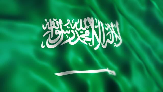 saudi arabia flag - flag stock videos & royalty-free footage