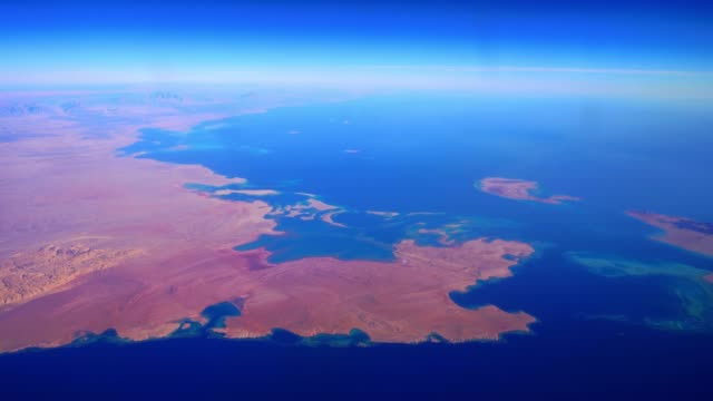 saudi arabia  gulf of aqaba straits of tiran - rotes meer stock-videos und b-roll-filmmaterial