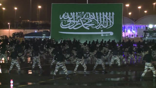 saudi arabia held a military parade on tuesday displaying soldiers and other forces who will be responsible for the security of next weeks hajj... - military parade stock videos & royalty-free footage