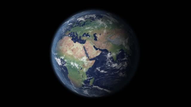 saudi arabia in focus zoom on globe - saudi arabia stock videos & royalty-free footage