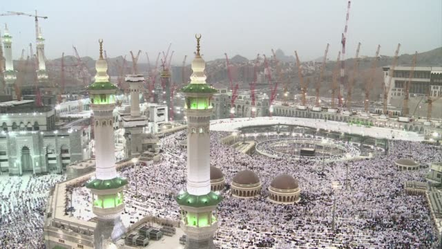 saudi arabia is gearing up for next weeks hajj with scores of pilgrims set to miss the worlds largest annual gathering over construction work and... - hajj stock videos & royalty-free footage