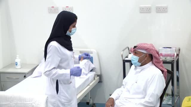 saudi arabia kicks off a three-phase covid-19 vaccination programme, with health minister tawfiq al-rabiah among those inoculated after the first... - riyadh stock videos & royalty-free footage