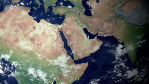 saudi arabia pops up after earth zoom  (with alpha matte) - jiddah stock videos & royalty-free footage