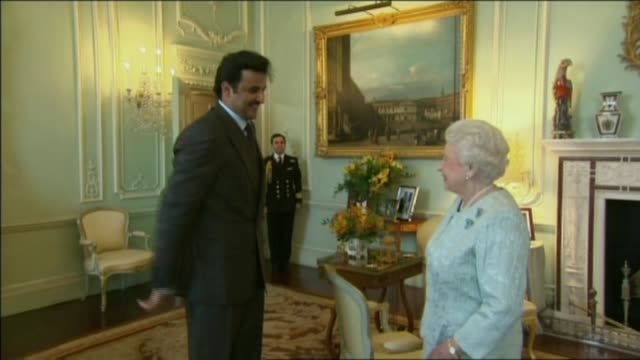 Saudi Arabia tells Qatar to close Al Jazeera television network LIB / PHOTOGRAPHY** Queen Elizabeth II meeting Emir of Qatar Tamim bin Hamad alThani...