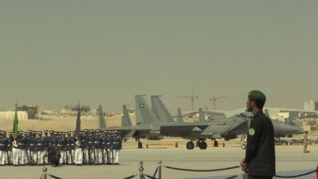 saudi arabia unveiled its next generation fighterbomber on wednesday nearly two years after beginning a controversial air war in yemen - weaponry stock videos & royalty-free footage