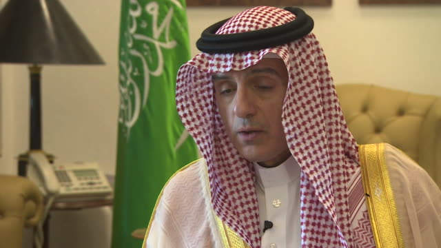Saudi Arabian Foreign Minister Adel AlJubeir saying he hopes the war in Yemen will end soon but that Saudi Arabia can not allow the Houthi rebels to...