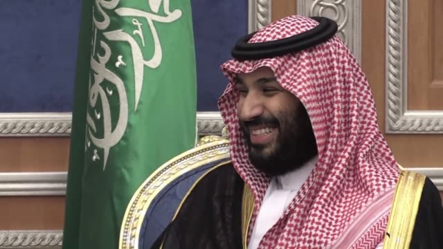 saudi arabia's crown prince mohammed bin salman will pay an official visit next week to france expected to focus on investment but also the war in... - visit stock videos & royalty-free footage