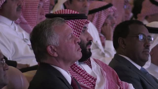 saudi crown prince mohammed bin salman attends an investment summit boycotted by a host of global ceos and policymakers over the murder of columnist... - columnist stock videos & royalty-free footage