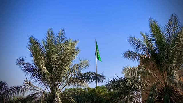 saudi flag - cultures stock videos & royalty-free footage