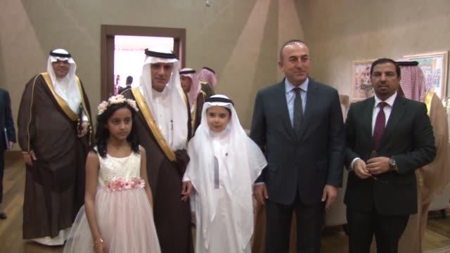 Saudi Foreign Minister Adel bin Ahmed AlJubeir meets with Turkish Foreign Minister Mevlut Cavusoglu in Ankara Turkey on April 11 2016