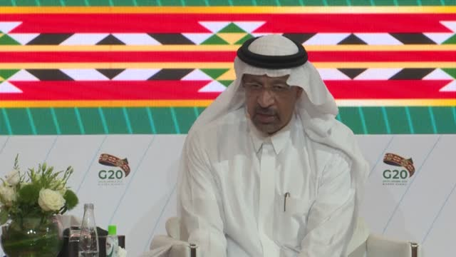 """saudi investment minister khalid al-falih says """"investors are not journalists"""" and they are looking to place their trust in an """"effective government""""... - government minister stock videos & royalty-free footage"""