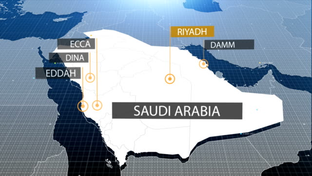 Saudi map with label then with out label