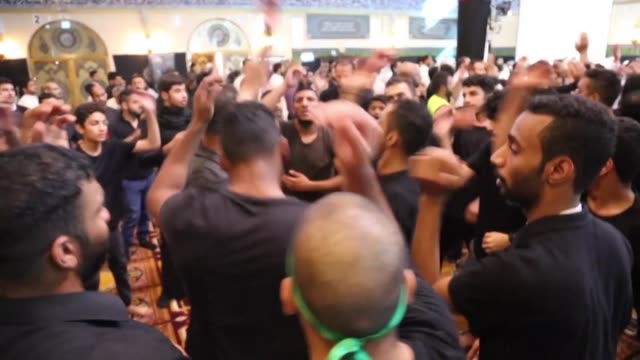 saudi shiite muslims mark the 10th day of ashura's religious commemoration in memory of the death of shiite imam hussein in the 7th century - muharram stock videos & royalty-free footage