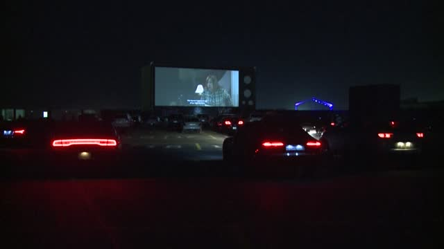 saudis watch films from their cars at the first drive-in cinema in the capital riyadh, which accommodates up to 200 vehicles while maintaining... - riyadh stock videos & royalty-free footage