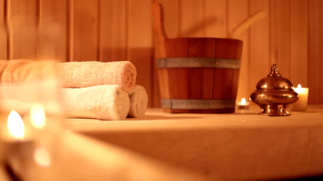 sauna relaxing - sauna stock videos and b-roll footage