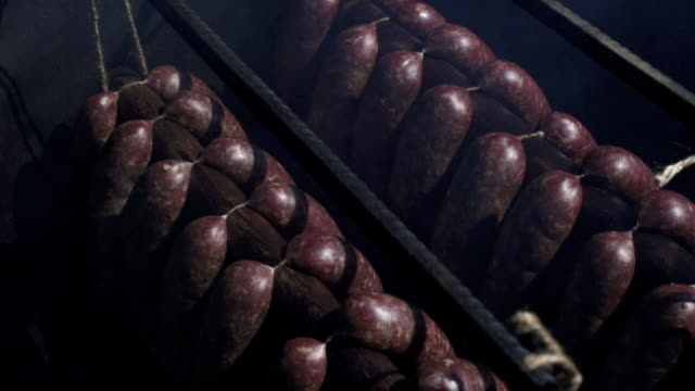 sausages - smoked food stock videos and b-roll footage