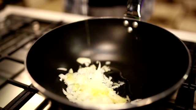sautéed onions - saute stock videos and b-roll footage