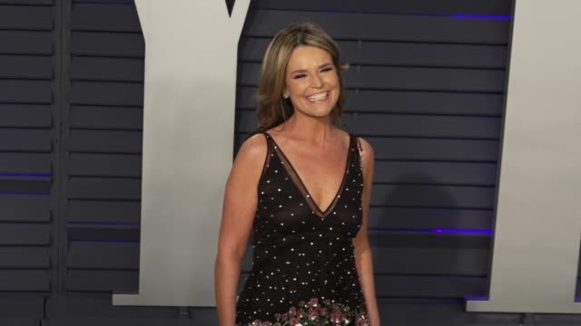 savannah guthrie at 2019 vanity fair oscar party hosted by radhika jones at wallis annenberg center for the performing arts on february 24, 2019 in... - vanity fair oscar party stock videos & royalty-free footage
