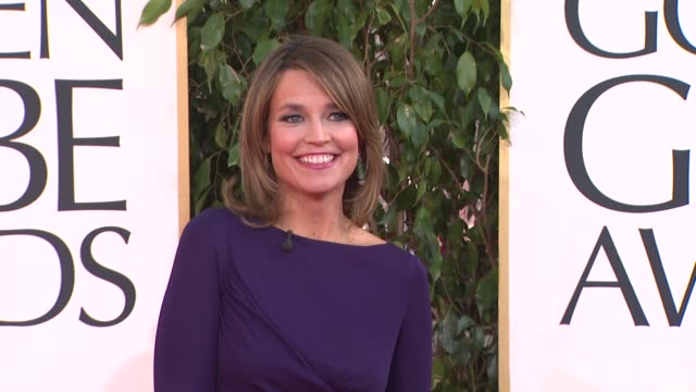 savannah guthrie at the 70th annual golden globe awards - arrivals in beverly hills, ca, on 1/13/13. - savannah guthrie stock videos & royalty-free footage