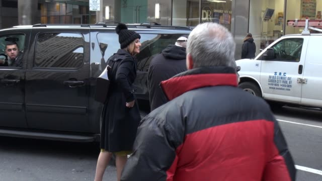 savannah guthrie leaves the today show in celebrity sightings in new york, - savannah guthrie stock videos & royalty-free footage